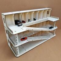 Парковка для детских машинок с гаражами