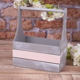 Ящик деревянный с пудровой полоской (размер s)