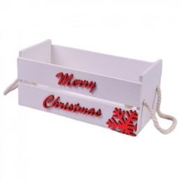 Ящик деревянный merry christmas