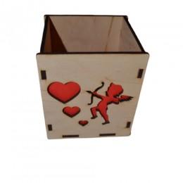 Декоративная коробка Купидон квадратная