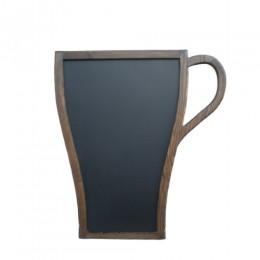 """Меловая доска """"чашка"""", доска-меню для кафе, 90х60 см"""