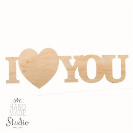 Слово из дерева  I love You
