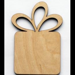 Деревянная заготовка Подарок